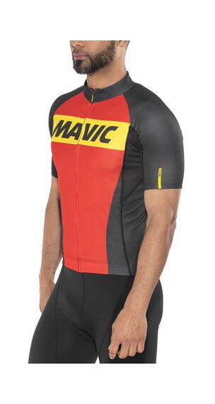 Mavic Cosmic Kortärmad cykeltröja Herr röd/svart
